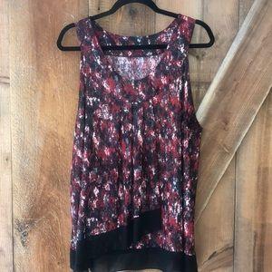 Layered sleeveless top size 2X